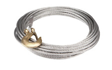 3/8 in. x 65 ft. Replacement Winch Cable Hook Rugged Aircraft Grade Braided Wire