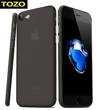 TOZO Ultra Slim Case iPhone 7 Protective Thin Cover Transparent Matte Black New