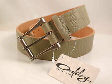 OAKLEY UNISEX  LEATHER BELT SIZE S GREY RRP$79 NEW  LAST FEW