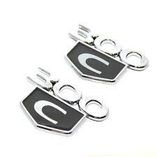 2x Gray OEM 300C 300 CTrunk fender Emblem 3D Badges decal for Dodge Chrysler NEW