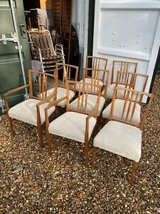 """8 """"Burford"""" Chairs Designed By WH Russell and Trevor Chinn.  Gordon Russell"""