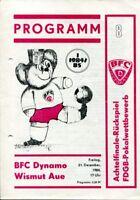 Programmheft BFC Dynamo - Wismut Aue FDGB Pokalwettbewerb 1984/85 /143