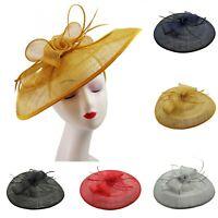 Large Flower Headband & Clip Hat Fascinator Weddings Ladies Day Race Royal Ascot