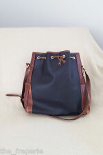 * GUCCI * VINTAGE MINI Monogramma Nero e Marrone in Pelle Bucket Bag