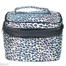 """Leopard Large Cosmetic-Makeup Travel Tote Bag, TOTE-504  5-1/2""""H x 7-3/4""""W x 5""""D"""