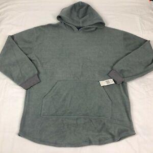 NEW Nautica Hoodie Mens Large Sleepwear Pajama Sweater Sweatshirt Gray Fleece