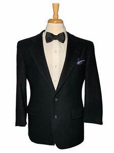 JOS A BANK Men's Black Two Button Camel Hair Sport Coat Blazer Jacket Men 42R