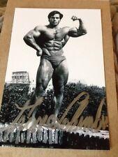 Bodybuilder Franco Columbu Signed 4x6 Photo Signed