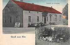 Gruß aus Klix bei Bautzen Gasthof zur Erholung Postkarte 1918