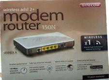 MODEM ROUTER WIRELESS ADSL 2+ SITECOM 150N X1 WPA2 802.11 B/G 150 MBPS