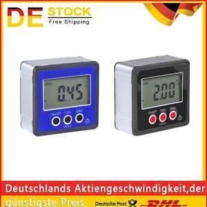 Magnetic Digital Protractor Inclinometer Level Box Angle Finder Bevel Box DE