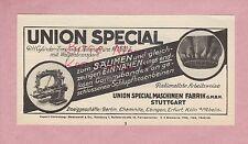 STUTTGART, Werbung 1932, Union Special Maschinen Fabrik GmbH Nähmaschinen