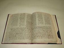 18th 19th CENTURY HEBREW MANUSCRIPT BOOK Autograph Jewish Judaica ספר בכתב יד