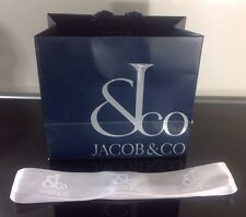 Rare Jacob & Co Store Bag and White Ribbon Watch Jewelry Five Time Zone Bag Only