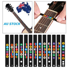 AU Guitar Fretboard Note Lable Stickers Fret Map Decals For 6-String Acoustic