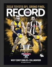 2018 Afl Grand Final Footy Record Magazine: Collingwood Magpies Vs West Coast Ea