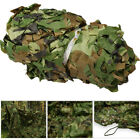 Camouflage Camo Army Green Net Netting Camping Hunting Woodland Leaves Fabric