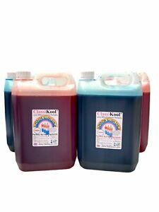 Classikool 4 x 5L Slush Puppy Syrup Set [2x Red Strawberry & 2x Blue Raspberry]