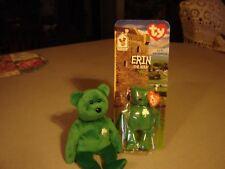 """TY beanie babys """" Erin & Teenie""""(  Bear )  """"Happy St. Patrick's day"""""""