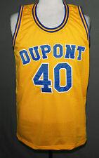Randy Moss Dupont High School Basketball Jersey Yellow New Sewn Any Size