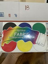 Speedball Fabric Screenprinting Ink Starter Set / Kit