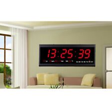 Orologio datario digitale led parete con data temperatura display ufficio