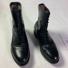 Addison Mens Leather Tactical Military Combat Lace Up Black Boots Size 9 W