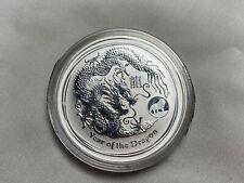 2012 Australia $1 Lunar Year of the Dragon 1 oz .999 Silver