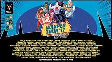 Vans Warped Tour 2017 Concert Poster: Silverstein,Hatebreed,I Prevail,Neck Deep