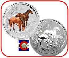 2014 Lunar Horse 1/2 oz Silver, Australia Bullion & Colorized Coins