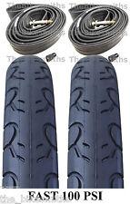 "2 PAK KIT 26"" x 1.25"" Kenda PRESTA Tubes & KWEST 100 PSI  Bike Tires MTB Slick"