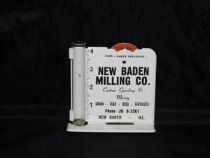 New Baden IL Milling Co Rain Gauge Metal Ad Sign Outdoor Modern Reproduction