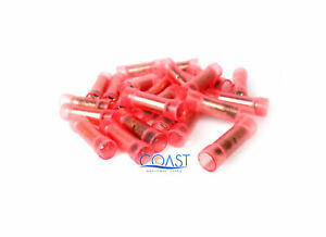 Car Home Audio Nylon Butt Connectors 8 Gauge Clear Red BC8R - 25 PCS