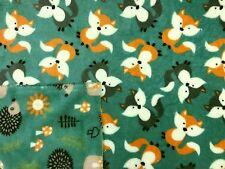 Woodland Amigos Cuddle Vellón Verde Vestido Reversible Manta para niños C172