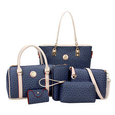 New Fashion Women's Handbags Shoulder Faux Leather Tote Crossbody Bag sets Hot