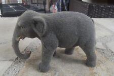 Ancien éléphant de crèche santon Devineau floqué