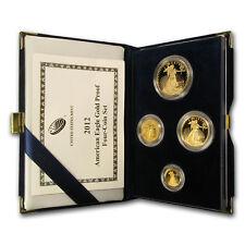 2012-W 4-Coin Proof Gold American Eagle Set (w/Box & COA)