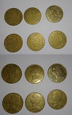 lot de 6 pièces de monnaies anciennes 20 cts MARIANNE de 1964 a 2000