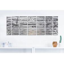 Statements2000 3D Metal Wall Art Modern Silver Tropical Beach Decor by Jon Allen