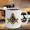 Freemason coffee mug - Freemasonry square and compass symbol - Masonic gifts 357