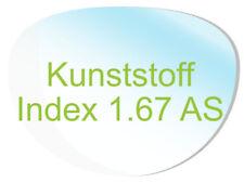 2 Brillengläser Kunststoff (Index1,67 AS) Super-ET, Hartschicht, CleanCoat