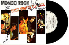 """MONDO ROCK - BABY WANTS TO ROCK - SIGNED / AUTOGRAPHED 7""""45 RECORD PIC SLV 1984"""