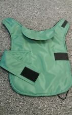 Size S Waterproof dog coat. Emerald green.  lambswool  fleece inner.