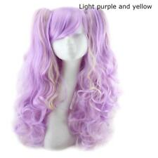 Harajuku Lolita Daily Wavy Ponytails Mixed Color Wig Fringe Curly Party Hair Wig