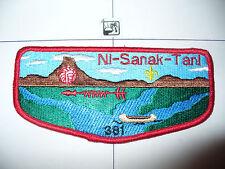 OA Ni Sanak Tani Lodge 381,S-7,1996 Flap,Rnd Corers,PB, MGM Chief,Gateway Cnl,WI