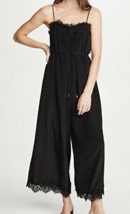 Zimmermann Black Lace Slip Jumpsuit, size 3, GREAT CONDITION