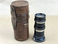 Contax RF Carl Zeiss Jena 13.5cm f/4 Sonnar Black & Nickel #1429883 w/ Case-RARE