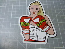 BEAT DOWN GIRL BOXING GLOVES Sticker/ Decal Bumper Stickers Actual Pattern NEW