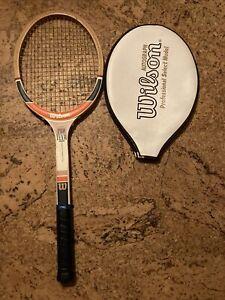 Ancienne Raquette Dunlop vintage wall decoration Bois Tennis Autograph Pro Team