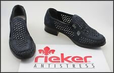 RIEKER ANTISTRESS WOMEN'S LOW HEEL CASUAL NAVY COMFORT SHOES SIZE 7